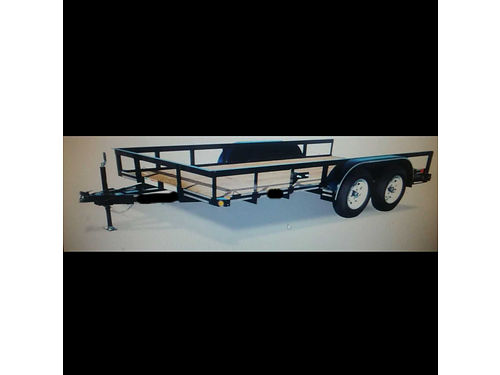 2017 ROAD BOSS UTILITY TRAILER 16 7000 lbs 15 tires 2 3500 lb axles brakes one axle 2175