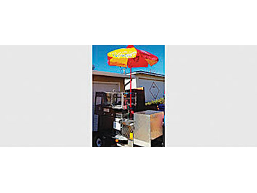 HOT DOG CART Ready to be licensed new hot water heater new pump new fridge compartment wbattery
