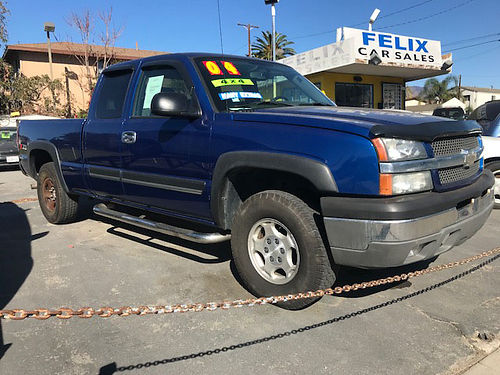 2004 CHEVROLET SILVERADO Z71 - 4x4 all power stereo CD cold AC bedliner super clean runs  lo