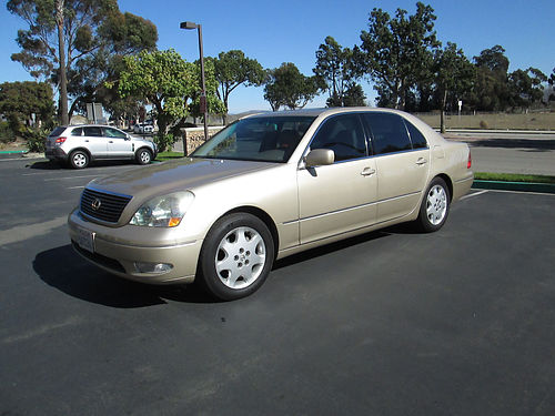 2003 LEXUS LS430 V8 5 spd well maint everything works snrf lther all pwr AC 6 CDiPod bran
