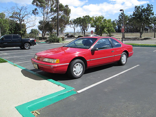 1991 FORD TBIRD auto V6 orig Sr owned 56500 orig mi AC stereo all pwr clean title garage