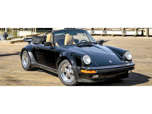 1989 PORSCHE FACTORY TURBO LOOK Cabriolet cert of authenticity VERY RARE 1 of 24 made mint in