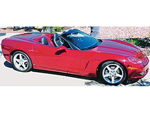 2006 CORVETTE CONVERTIBLE - 9200 mi 6-speed manual flawless 80V GM color clean black exterior  t