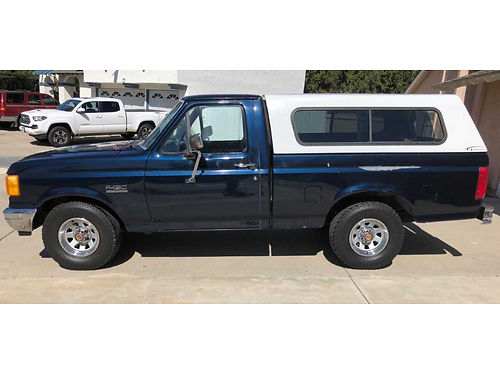 1991 FORD F150 6cyl at ac stereo camper shell new brksmaster cylinder fresh tuneup low miles