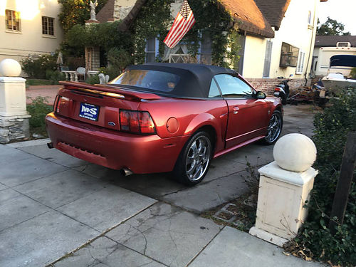 2003 FORD MUSTANG GT CONVT auto 37 liter aftermarket cust tires whls  sound syst 130K miles