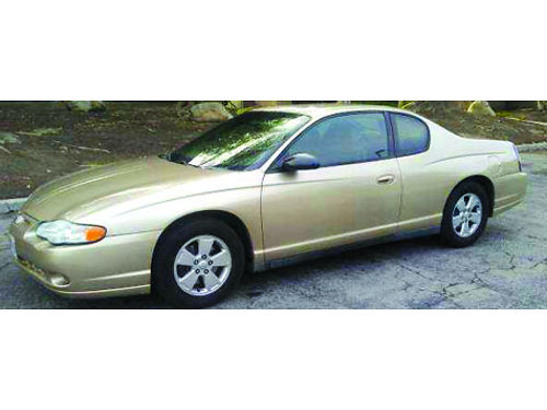 2005 CHEVY MONTE CARLO 2 dr cpe auto super clean in  out new tires AC CD looks new and drive