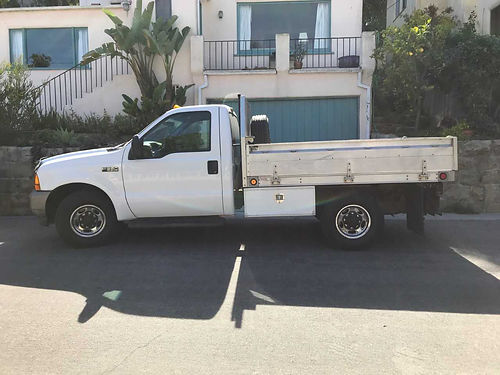 2001 FORD F350 FLATBED Grumman alum Ute bed single rear axle auto V8 127K mi undercarriage to
