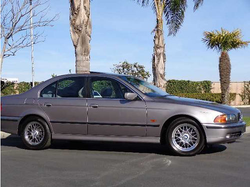 2000 BMW 528I Sedan only 48K orig mi One Owner local car Platinum Metallic with Gray Lthr Prem
