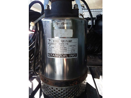 STANCOR PUMP Stainless 2 pumped two pools only 34 HP 3600 RPM 63 GPM Model SSD-75 great fi
