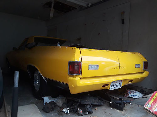 1972 CHEVY EL CAMINO Auto V8 needs restoring wide tires rear differential stereo nice paint a
