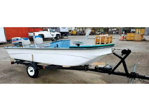 1978 OLYMPIAN BOAT  TRAILER 35 HP Evinrude Center Tillage Swivel Seats Good Condition 1500 OB