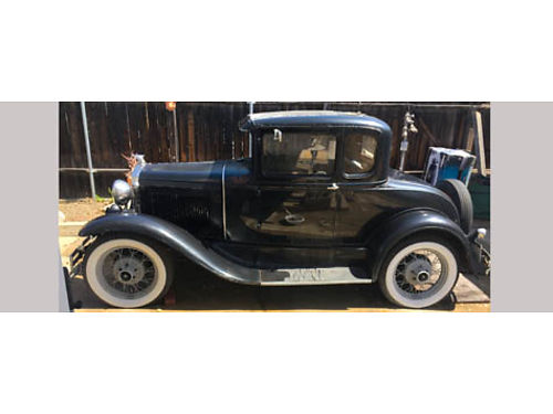 1930 FORD MODEL A 3 spd shifter on the floor runs on dmv non-op new 19 tire