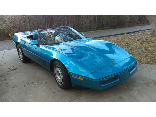 1987 CHEVY CORVETTE CONVERTIBLE 350 ci 4 spd auto new paint tires  upholstery runs great 750