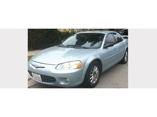 2001 CHRYSLER SEBRING auto V6 4dr all power AC stereo leather new tires good cond runs goo