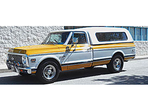 1971 CHEVY C-20 CHEYENNE SUPER 2nd owner- 30 years rebuilt roller rocker low friction balanced 35