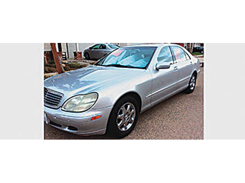 2000 MERCEDES-BENZ S430 - All power Auto leather silver on black 194K miles runs good new tire