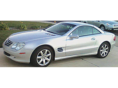 2003 MERCEDES-BENZ 500SL - Estate sale light silver HT convertible 45K miles flawless Rizzoli m