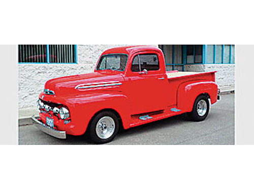 1951 FORD F-1 - 302 AT Comp cam all steel truck disc brakes Volare front clip smoke tint windo
