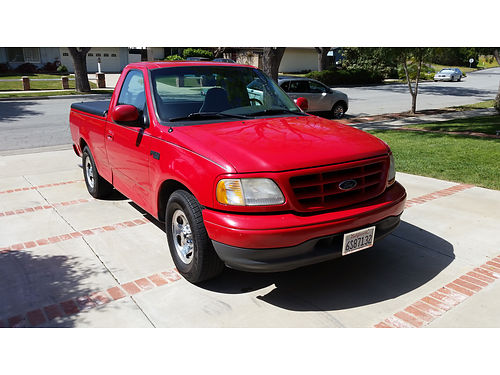 2001 FORD F150 XL Pickup truck red with grey cloth Interior Standard Cab Short Bed V6 Motor 5-
