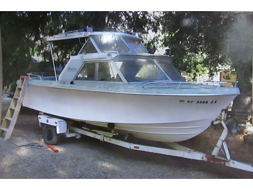 CABIN CRUISER 22 with trailer 200 HP chevy eng Bimini top good cond 1500