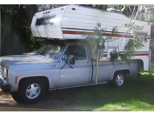 1977 CHEVY 34 TON with Cabover Camper good cond runs good 2000