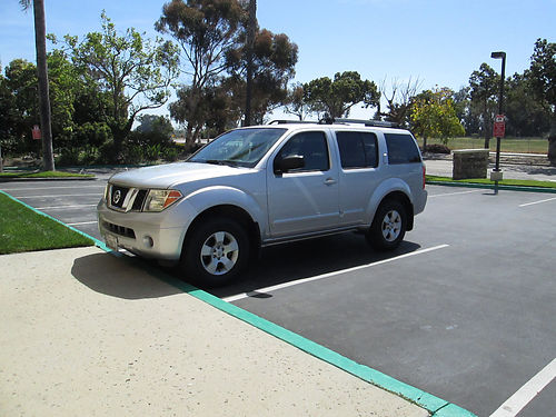 2005 NISSAN PATHFINDER auto V6 clean title smogged 3rd seat all pwr AC new stereo runs grea