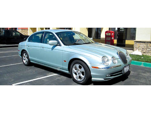 2001 JAGUAR S TYPE 30 auto V6 all power sunroof stereo AC leather clean title well maint