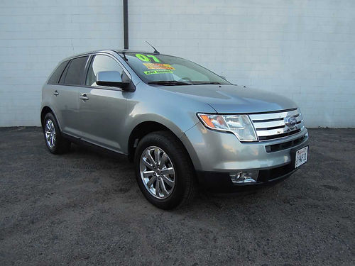 2007 FORD EDGE SEL B18859 auto V6 35 Blk int all pwr AC super clean new tires stereo gr