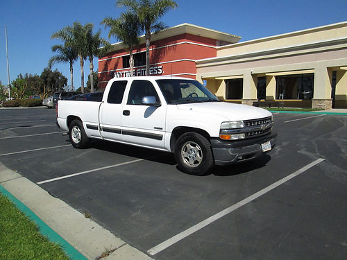 2001 CHEVY SILVERADO 1500 EXT CAB Auto V8 53L pw pdl pm bedliner tow pkg new tires nice s