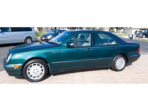 2000 MERCEDES BENZ E320 V6 32 auto wOD ac airbags pw pm pdl pg ps alarm psnrf pseat
