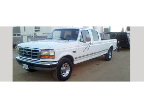 1997 FORD F350 CREW CAB XLT auto V8 new tires great shape for the year AC CD tow hitch pw p