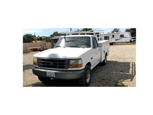1997 FORD F-350 460 auto woverdrive fuel injection utility bed lumber rack 157k mile ac ice