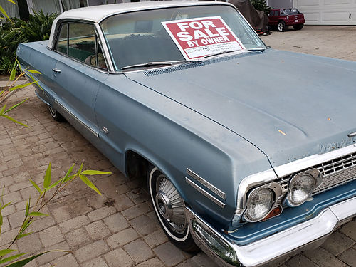 1963 CHEVY IMPALA auto orig 283 powerglide trans 2 dr HT all original facty stock wheels does