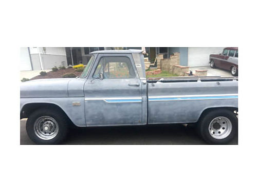 1964 CHEVY 34 TON TRUCK V8 283 4 BBL Edelbrock Stu Warner gauges auto ps just needs paint on
