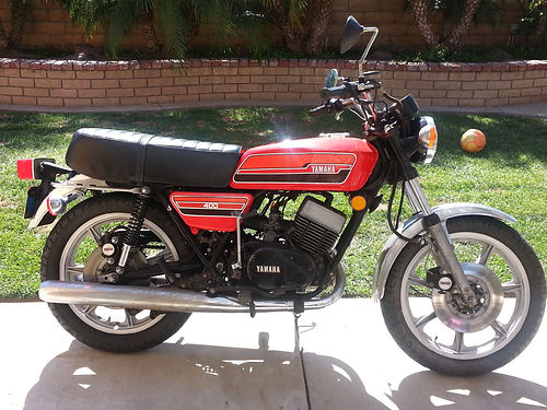1976 YAMAHA RD400C RARE 2 stroke air cooled 6 spd single disc front  rear brks all stock and