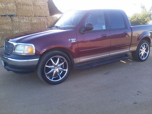 2003 FORD F150 CREW CAB shortbed AC fully loaded bedliner tow pkg sunroof 22 cust whls ster
