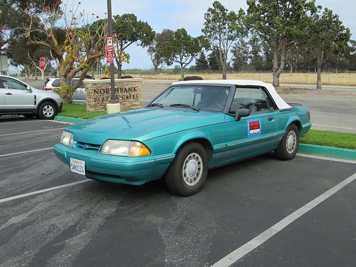 1993 FORD MUSTANG CONVT auto 4cyl 137K mi new head top tires all pwr CD AC clean in-out ve