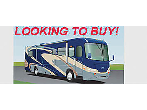WANT TO BUY 25 more or less Motorhome good condition Will pay cash Must leave voicemail