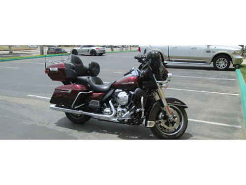2014 HARLEY DAVIDSON ULTRA GLIDE Ultra Classic 15K miles warranty incl loaded xlnt cond curren