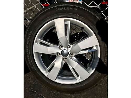 SET OF 4 AUDI WHEELS AND TIRES 2018 19 Audi Q5 Wheels  Tires Continental Tires 23555R18 Like Ne