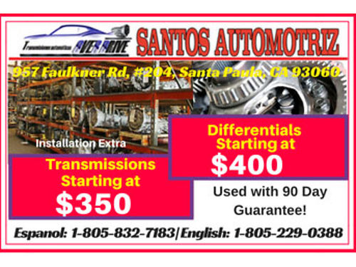 USED TRANSMISSIONS AND DIFFERENTIALS all with a 90 warranty We have 15 years o