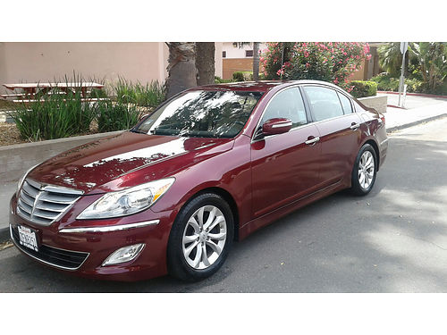 2013 HYUNDAI GENESIS smogged reg to 102019 39K low mi new Michelins Defender tires well maint