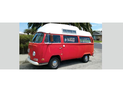 1971 VW BUBBLETOP CAMPER VAN new upholstery mahogany wood panels flooring windows door seals