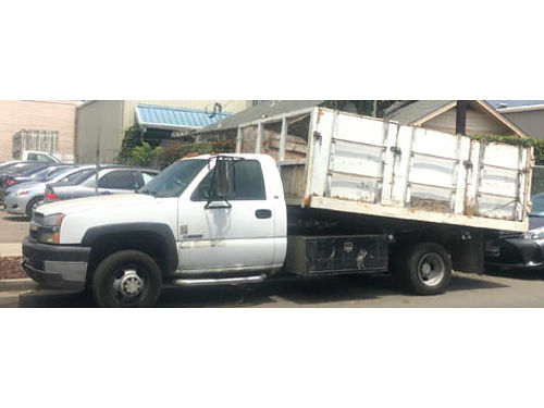 2004 CHEVY SILVERADO 3500 Hydraulic DUMP BED truck 75K orig miles new tires dual axle smogged