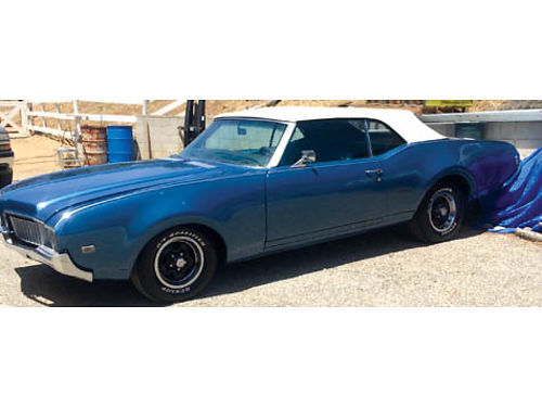 1969 OLD CUTLASS CONVT auto V8 new interior and top ps pb pw air cc exterior paint looks new