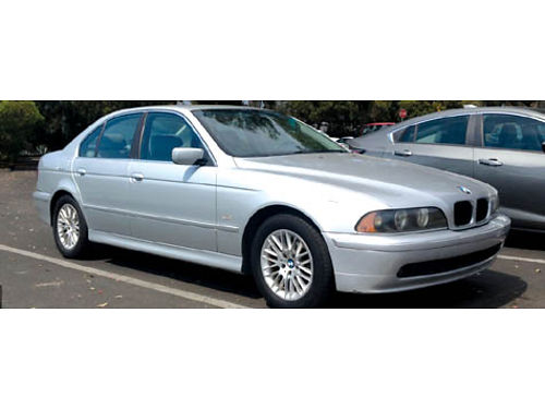 2001 BMW 530I auto 6 cyl 2nd owner clean title snrf lthr AC orig paint 267K miles all main