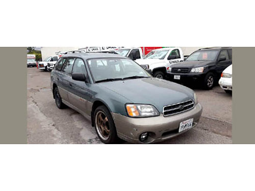 2001 SUBARU OUTBACK 4 dr wgn 4 cyl 25L auto OD AC air bags pw pm pdl CD alarm syst tilt