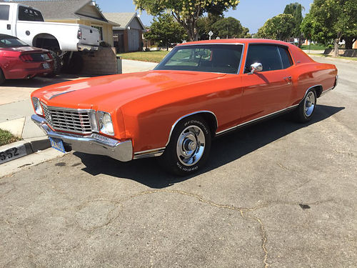 1972 MONTE CARLO 350350 Turbo trans 350 HP 72K orig mi fully restored to original needs nothin