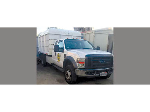 2008 FORD 550 Dump diesel engine 45285 miles Chipper not included 30000