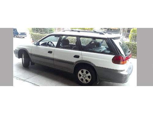 1998 SUBARU LEGACY OUTBACK 4WD 167300 mi white clean paint  interior recent eng replacement